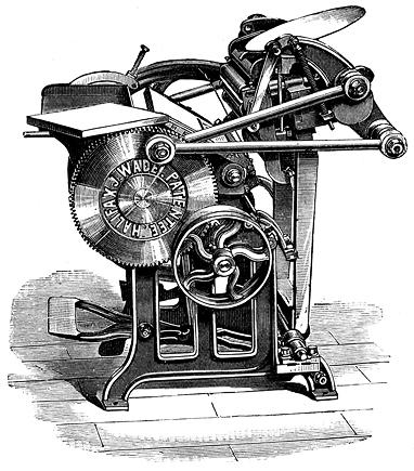 Eski matbaa makinası